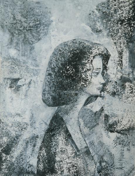 Mujer con paisaje