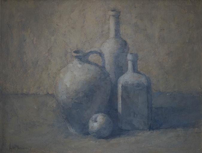 Botellas y cántaro