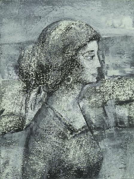 Mujer con moño