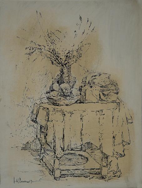 Mesa con frutero